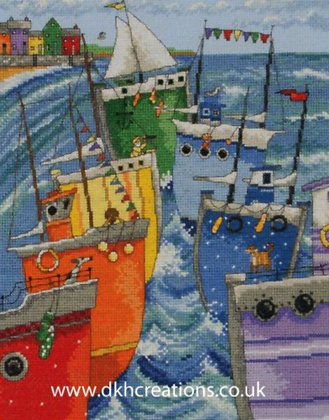 Rainbow Flotilla Cross Stitch Kit